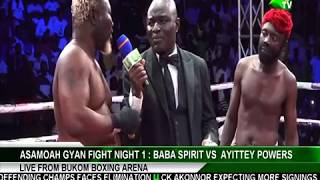 ASAMOAH GYAN FIGHT NIGHT 1: Baba Spirit disqualified for breaching boxing rules