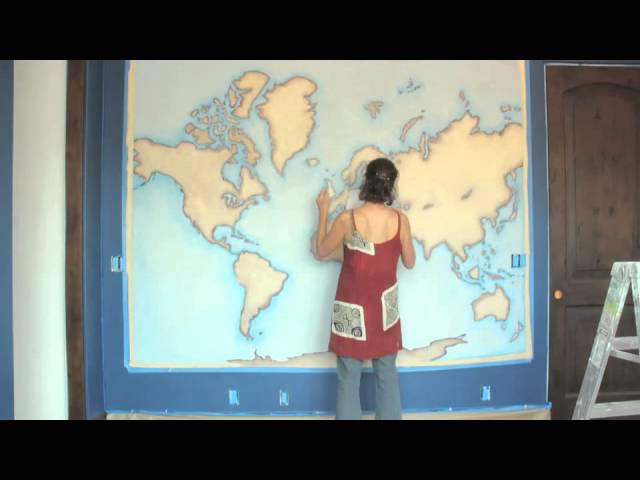 Boys Room World Map Time Lapse