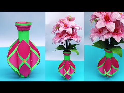 Download Easy Paper Flower Vase How To Make A Flower Vase At Home