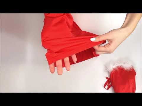 Vánoční kostým Kissmas chemise red - Obsessive