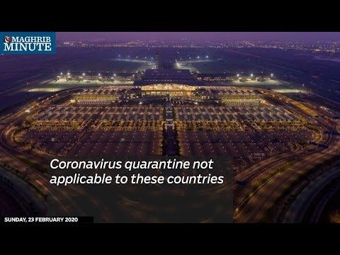 Coronavirus quarantine not applicable to these countries