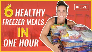 6 Healthy Freezer Meals In One Hour
