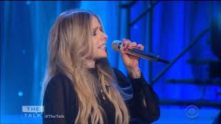 """Avril Lavigne sings """"Head Above Water"""" Live in Concert on The Talk 2019 HD 1080p"""