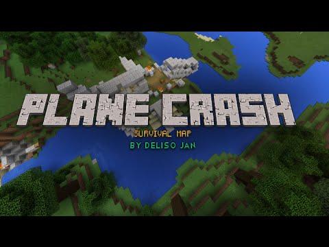 MCPE) Plane Crash Survival Map Minecraft Project