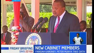 President Uhuru has warned newly sworn in cabinet,those who will not deliver will be shown the door