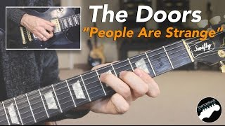 """The Doors """"People Are Strange"""" Complete Guitar Lesson - Intro and Solo!"""