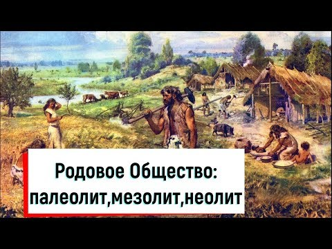 Родовое Общество: палеолит,мезолит,неолит