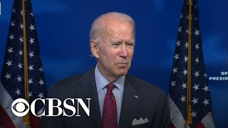 """Biden says he's """"confident"""" in a bipartisan deal on economic stimulus"""