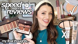 SPEED REVIEWS // Final Thoughts on New Makeup I've Been Trying