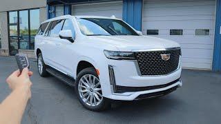 2021 Cadillac Escalade ESV Premium Luxury: Start Up, Walkaround, Test Drive and Review