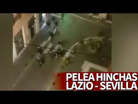 La pelea en Roma entre hinchas de Lazio y Sevilla que acabó con 4 apuñalados | Diario AS