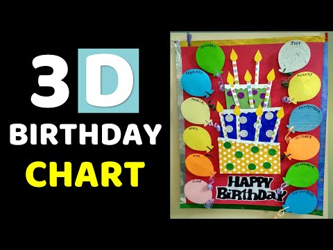 3D Birthday Chart For Classroom L Bulletin Board Ideas School