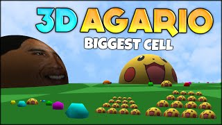 FIRST EVER AGARIO 3D! THE BIGGEST #1 AGARIO CELL in 3D AGAR.IO (BIOME3D) (Agar.io #93)