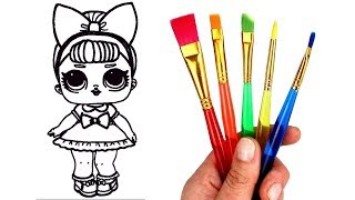 How to Draw LOL Doll Fancy | LOL Surprise Glitter Series Opening Drawing and Coloring for Kids