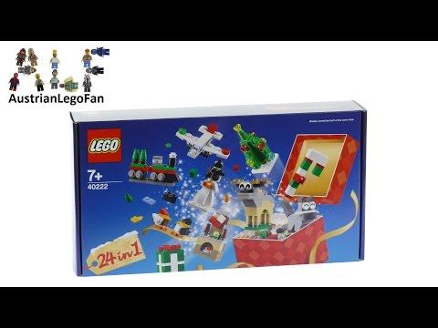 Vidéo LEGO Saisonnier 40222 : Jeu de 24 constructions de Noël