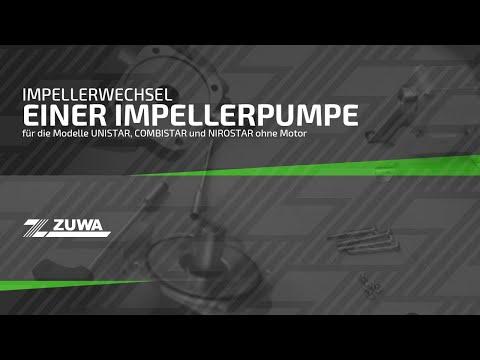 Impellerwechsel einer Impellerpumpe der Firma ZUWA (ohne Motor)