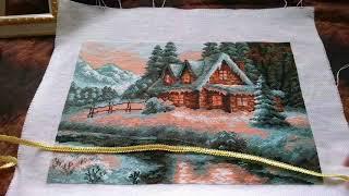 Вышивка крестом схемы пейзаж и природа