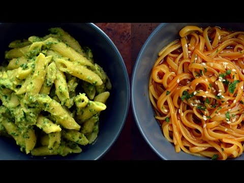 Video 9 Vegan Pasta Recipes (College Students)