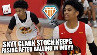 Skyy Clark HAS ICE IN HIS VEINS AT EYBL INDY!! | LeBron GOES CRAZY After Game Winner