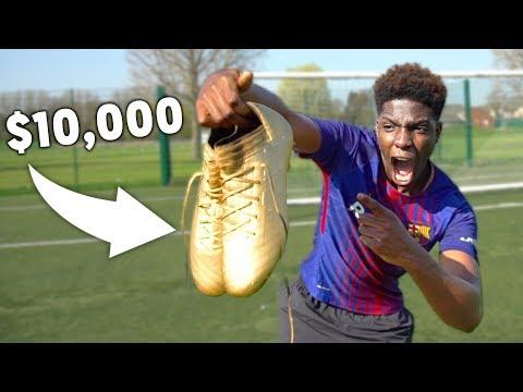 I Got LIONEL MESSI's $10,000 GOLDEN FOOTBALL Boots!