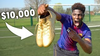 I Got LIONEL MESSI's $10,000 GOLDEN FOOTBALL Boots!