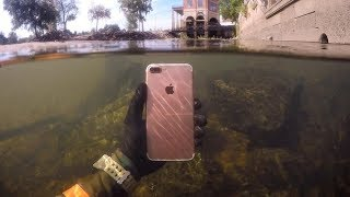 Found Lost iPhone Underwater in River While Snorkeling! (Freediving) | DALLMYD - Video Youtube