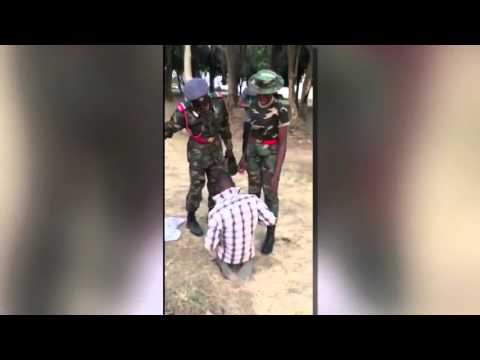 Nigerian Army Cadet Tortures Man For Complimenting A Female Officer