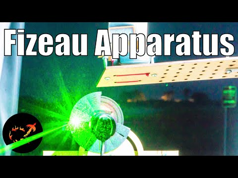Measuring the speed of light the old fashioned way: Replicating the Fizeau Apparatus - YouTube