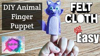 DIY Felt Animal Finger Puppet   Cat   Easy   Felt Cloth   Kids Toy