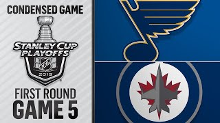 04/18/19 First Round, Gm5: Blues @ Jets
