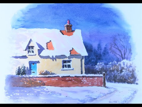 Thumbnail of 'Rose Cottage in Winter'. (watercolour demonstration)