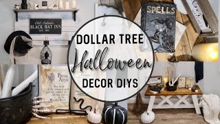 DIY DOLLAR TREE HALLOWEEN DECOR | FARMHOUSE FALL DECORATING | POTION BOOK DIY | WITCH BROOM DIY