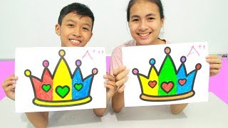 Princess Crown, Warna Warni Belajar Menggambar dan Mewarnai untuk Anak