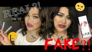 REAL Vs FAKE Kylie Jenner Liquid Lipsticks & Colourpop Ultra Matte Liquid Lipsticks