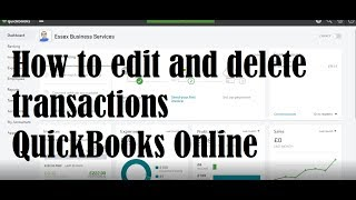 Editing and Deleting Transactions on QuickBooks Online
