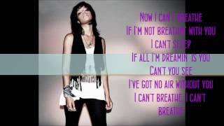 I Can't Breathe - Fefe Dobson (Lyrics)