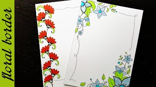Flower Designs On Paper