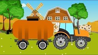 Синий трактор - Учим животных - Мультики про машинки