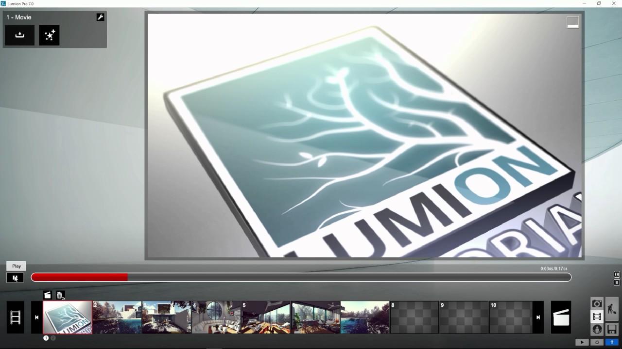 ムービーモード:ムービーファイルのインポート(Lumion7 series)