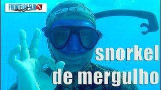 Snorkel equipamento de pesca sub que mergulho em apneia que te ajuda a descansar na superfície.