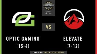 Optic Gaming vs Elevate | CWL Pro League 2019 | Cross-Division | Week 12 | Day 2