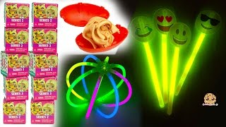 Glow In The Dark Emojis, Foam Dinosaurs, My Mini MixieQs Surprise Blind Bags - Dollar Tree Haul