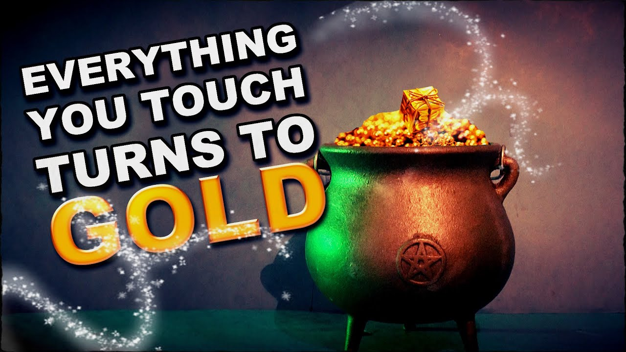 Make Everything You Touch Turn To Gold With A Potion
