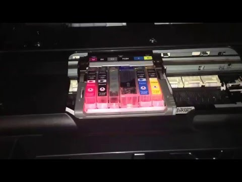 Canon Pixma Drucker Tinten Patrone wechseln Farbpatrone ersetzen im Multifunktionsgerät Anleitung