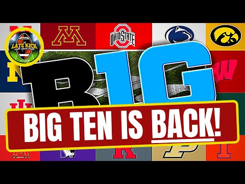 Big Ten Is BACK – Rapid Reaction (Late Kick Cut)