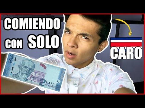 COMIENDO CON $3,50 POR 1 DÍA EN COSTA RICA
