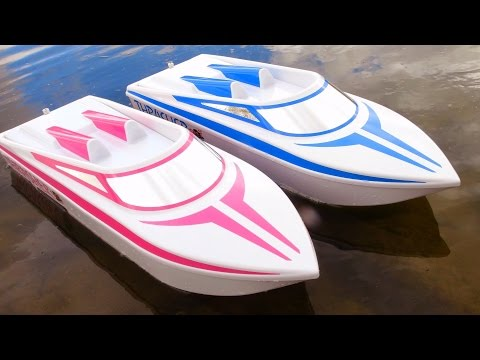 "RC ADVENTURES - JEMS NEW 6S LiPO ""Pretty In Pink"" THRASHER UNBOXiNG! Streamline RC JET BOAT"