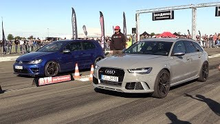 Volkswagen Golf 7 R vs Audi RS6 C7 Avant