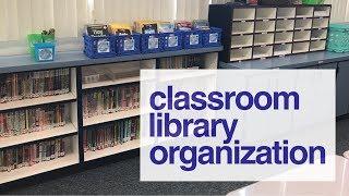 Classroom Library Organization | Classroom Setup | Teacher Vlog