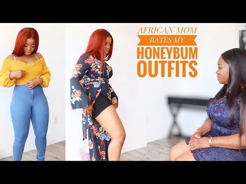 MY AFRICAN MUM RATES MY HONEYBUM OUTFITS || NATURAL BODY TRY ON HAUL